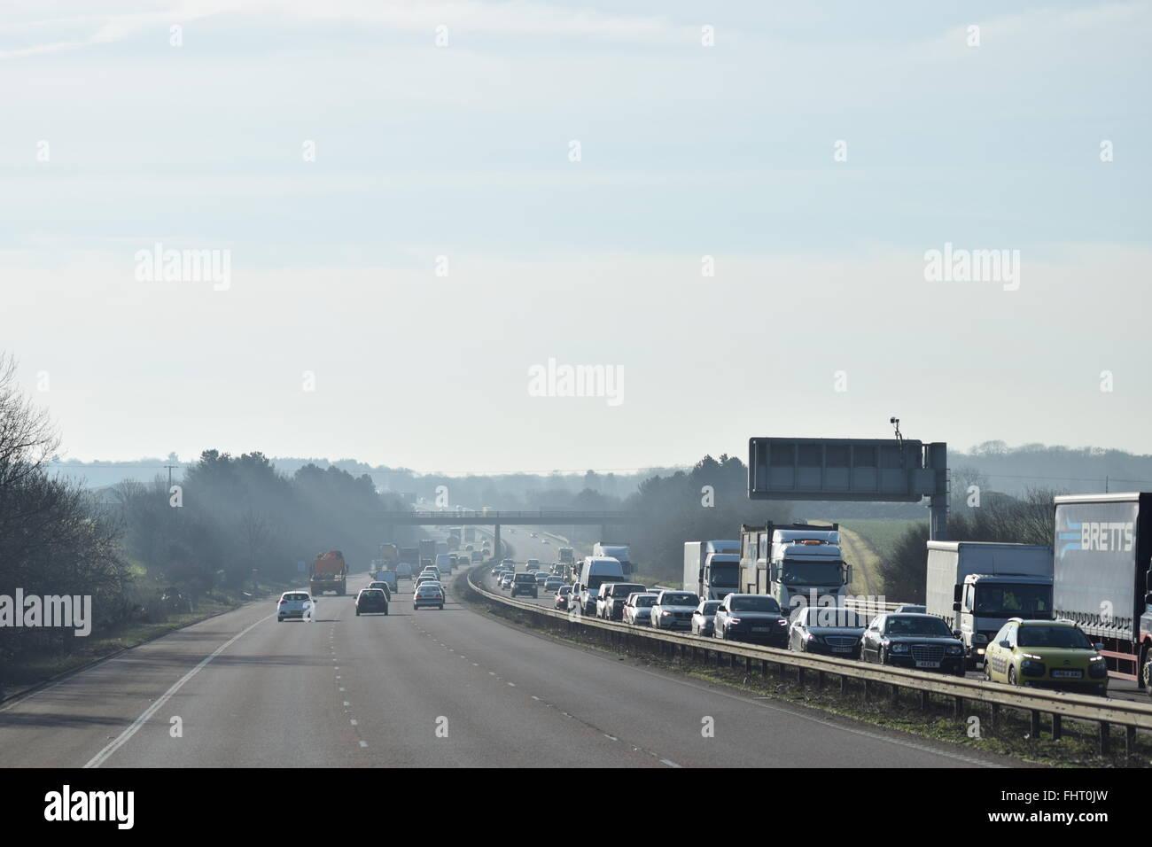 congested motorways - Stock Image