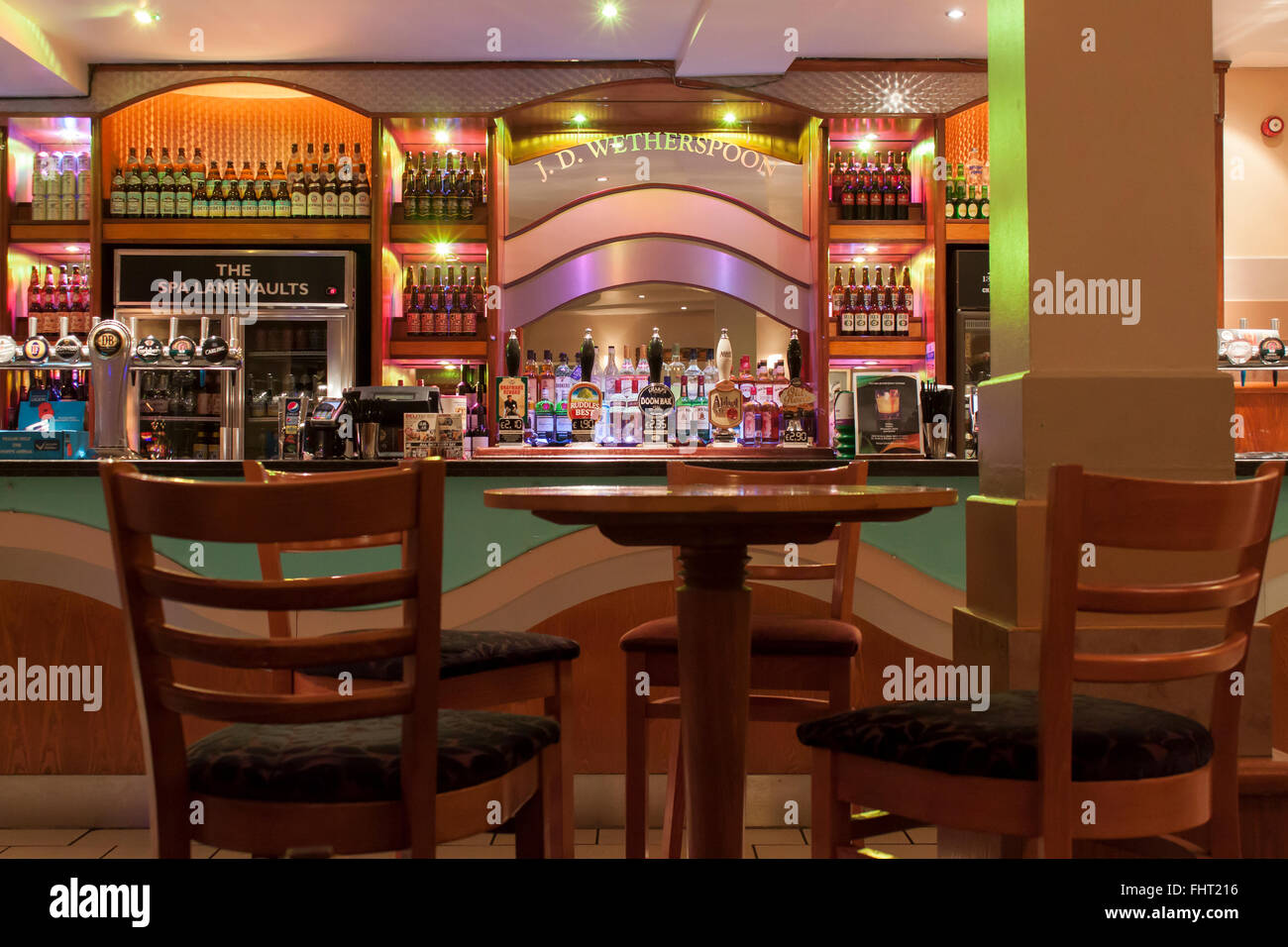 Wetherspoons The Spa Lane Vaults Chesterfield Derbyshire UK - Stock Image