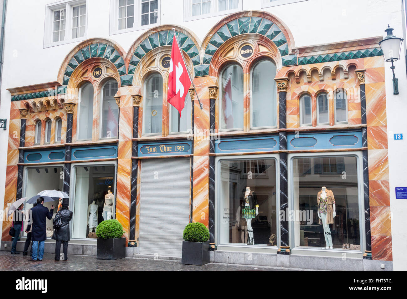 Historical Buildings Zurich Switzerland - Stock Image
