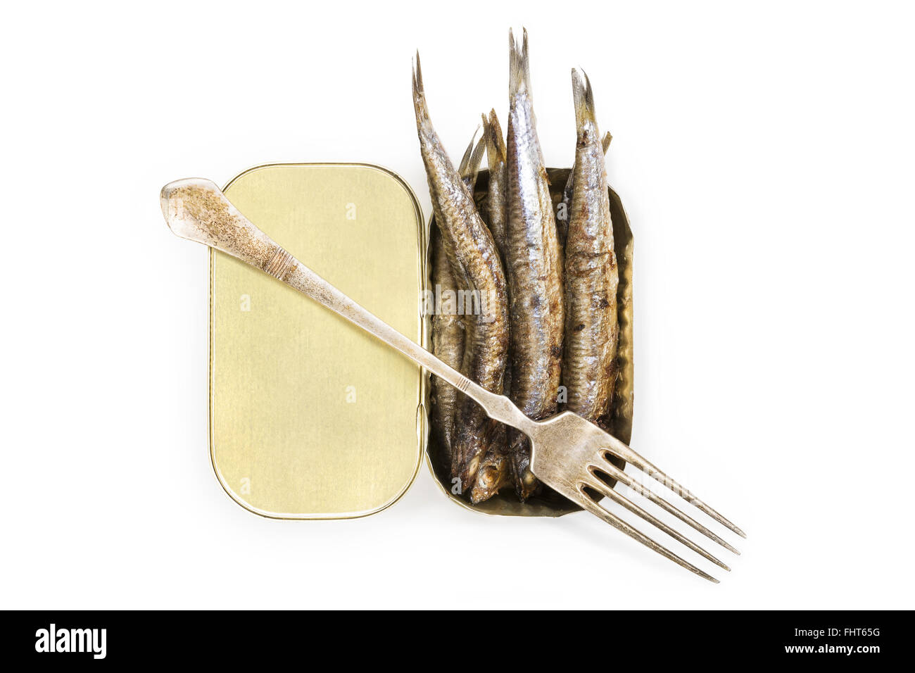 Grilled anchovies. - Stock Image