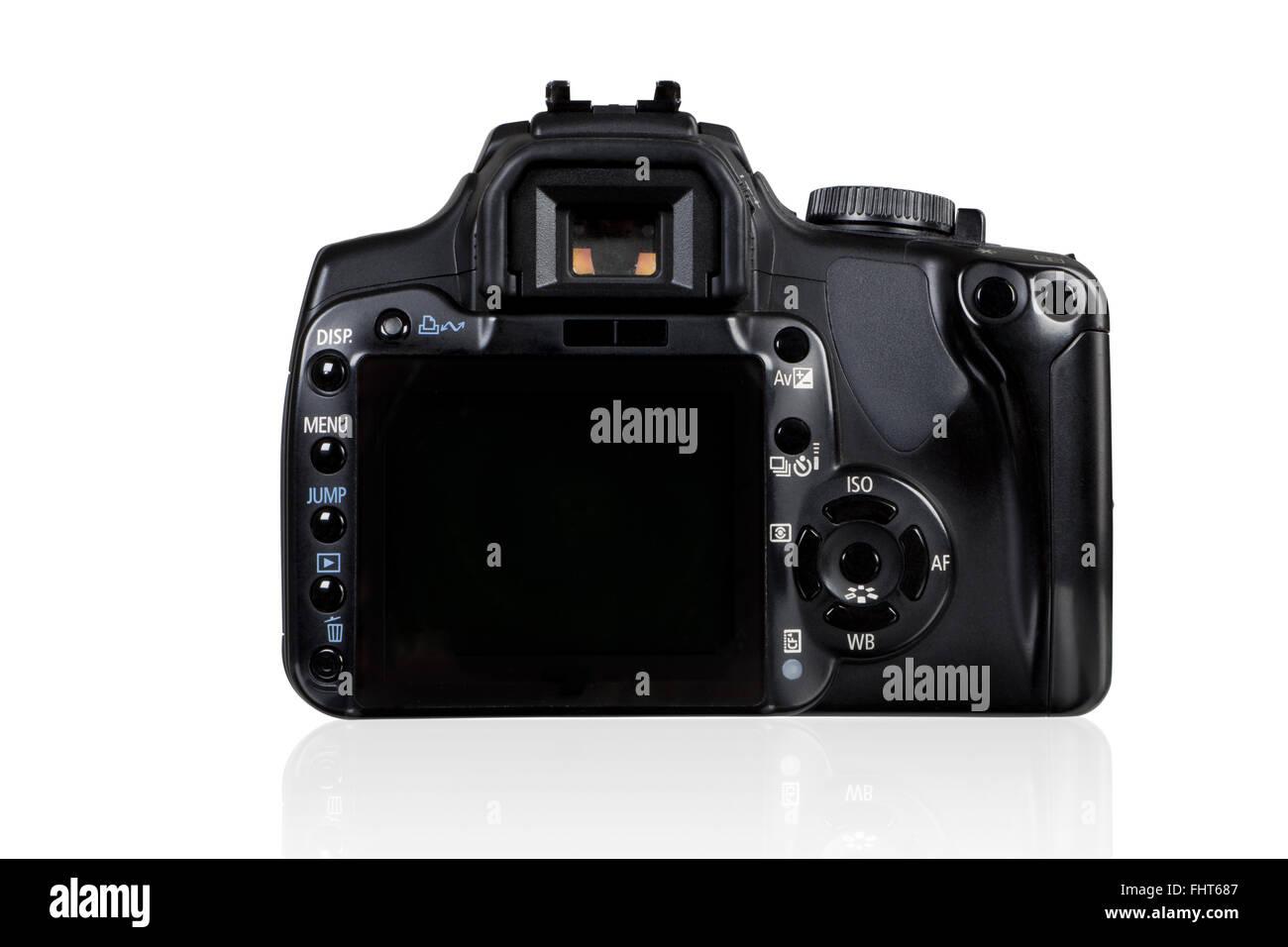 DSLR Camera - back view - Stock Image