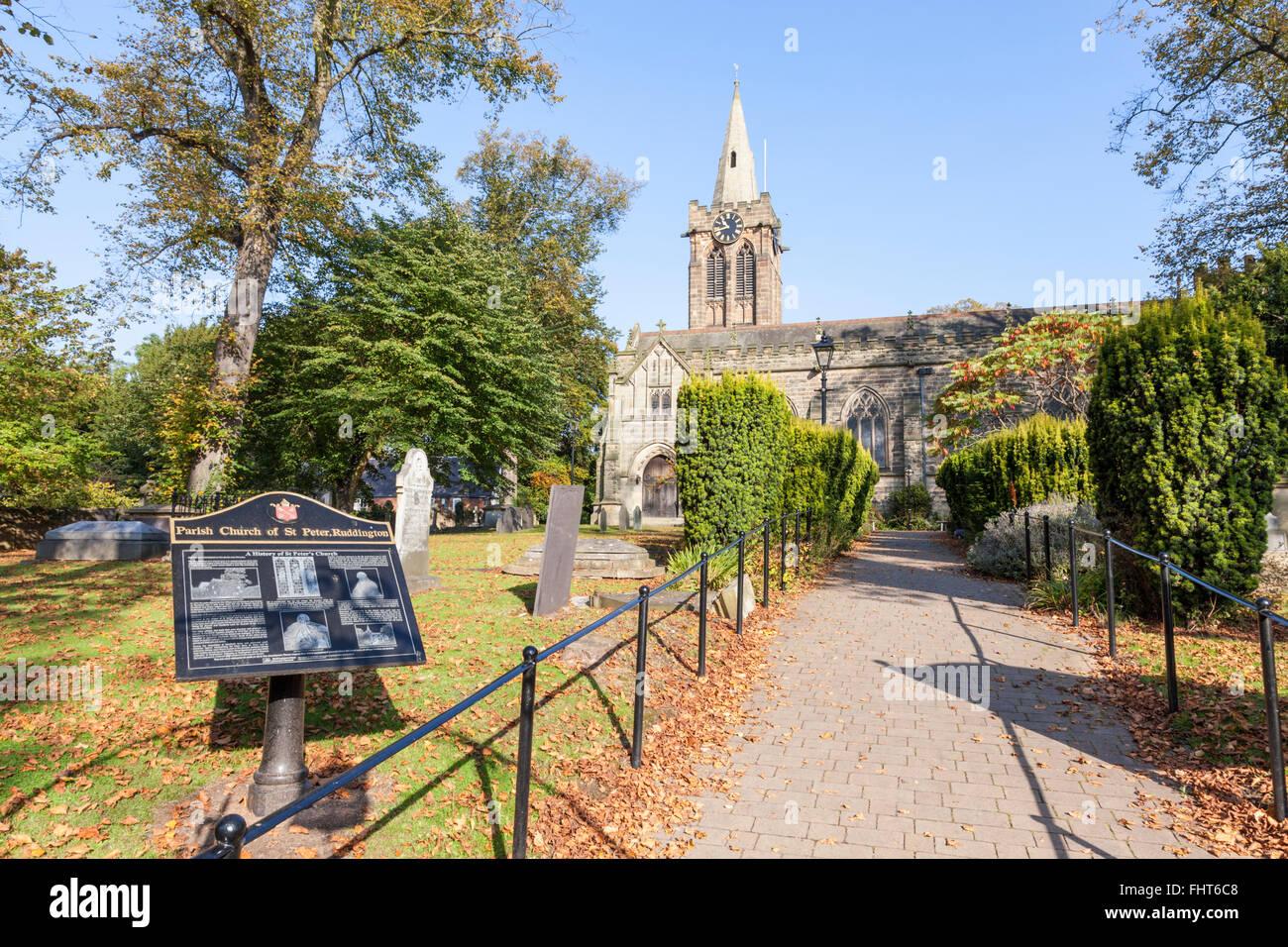 St Peter's Church, Ruddington, Nottinghamshire, England, UK - Stock Image