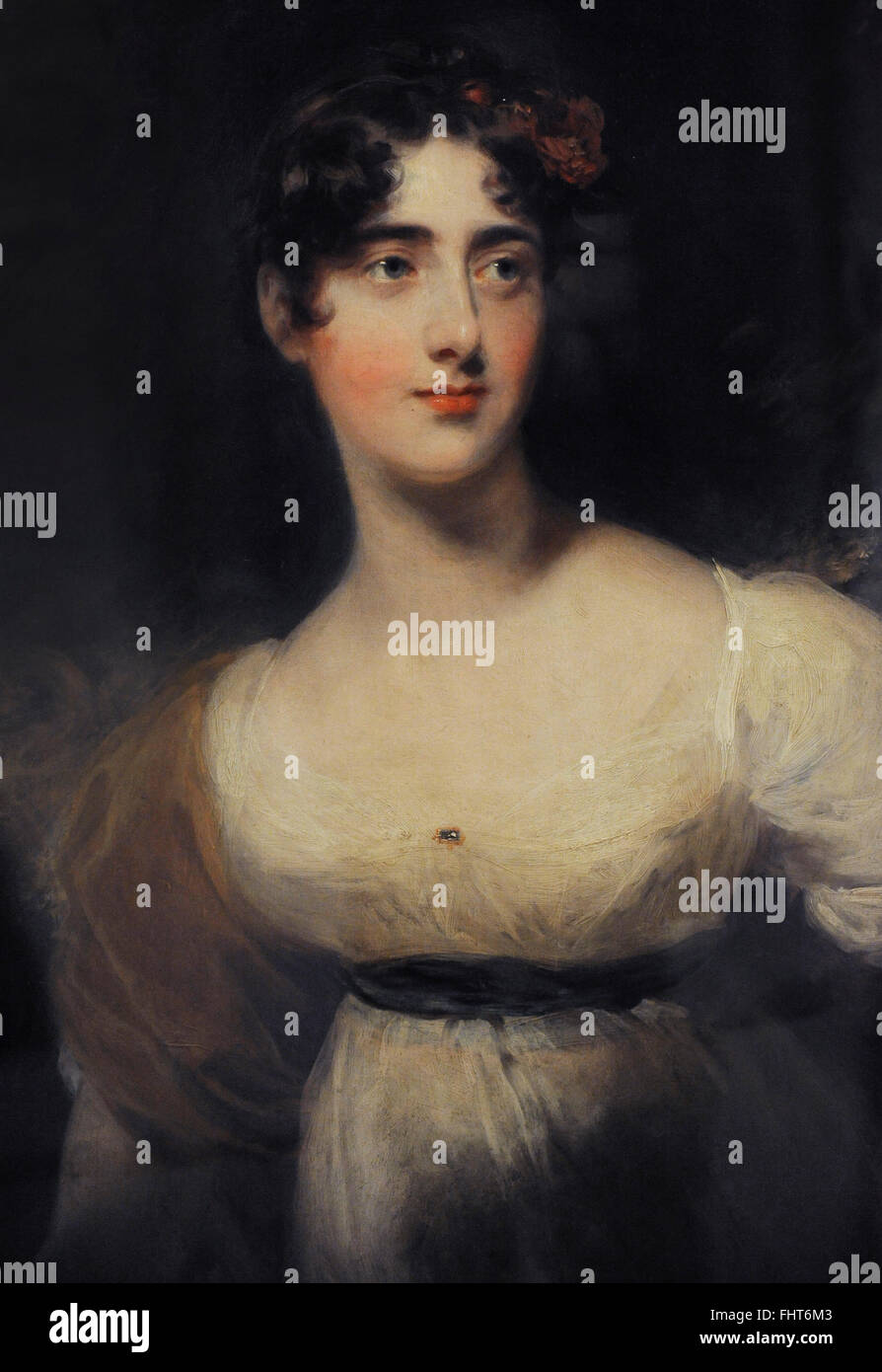 Emily Harriet Wellesley-Pole, Lady Raglan (1792-1881). Portrait by Thomas Lawrence (1769-1830), 1814. The State - Stock Image