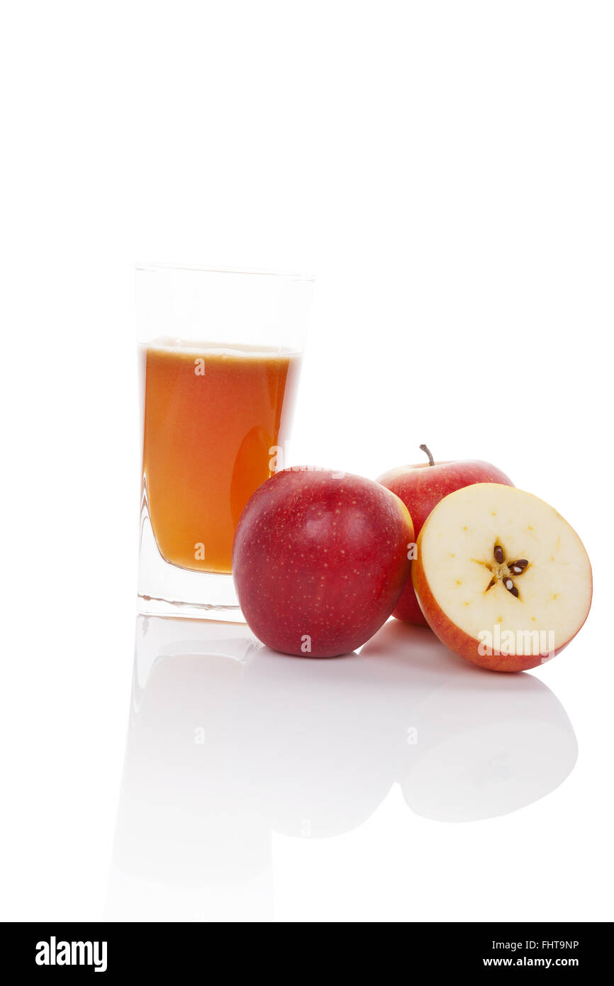 Healhty apple juice. - Stock Image