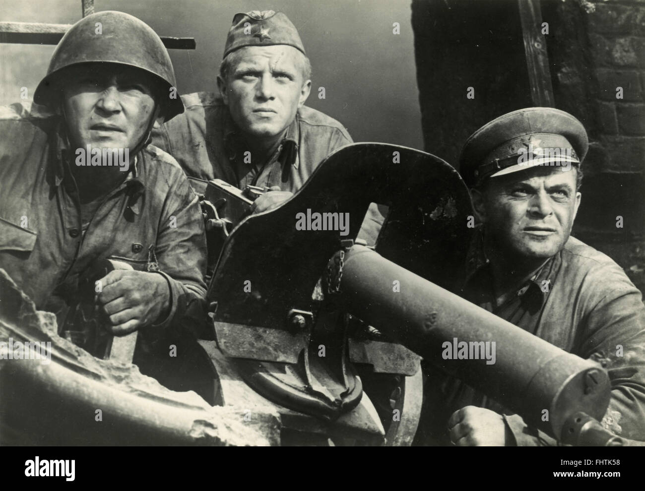 The actor Steve McQueen in one scene of the film Hell is for Heroes, USA 1962 - Stock Image