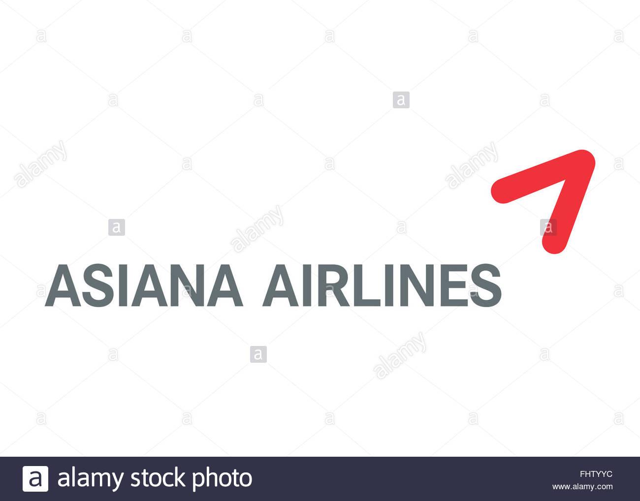 Asiana Airlines logo Stock Photo