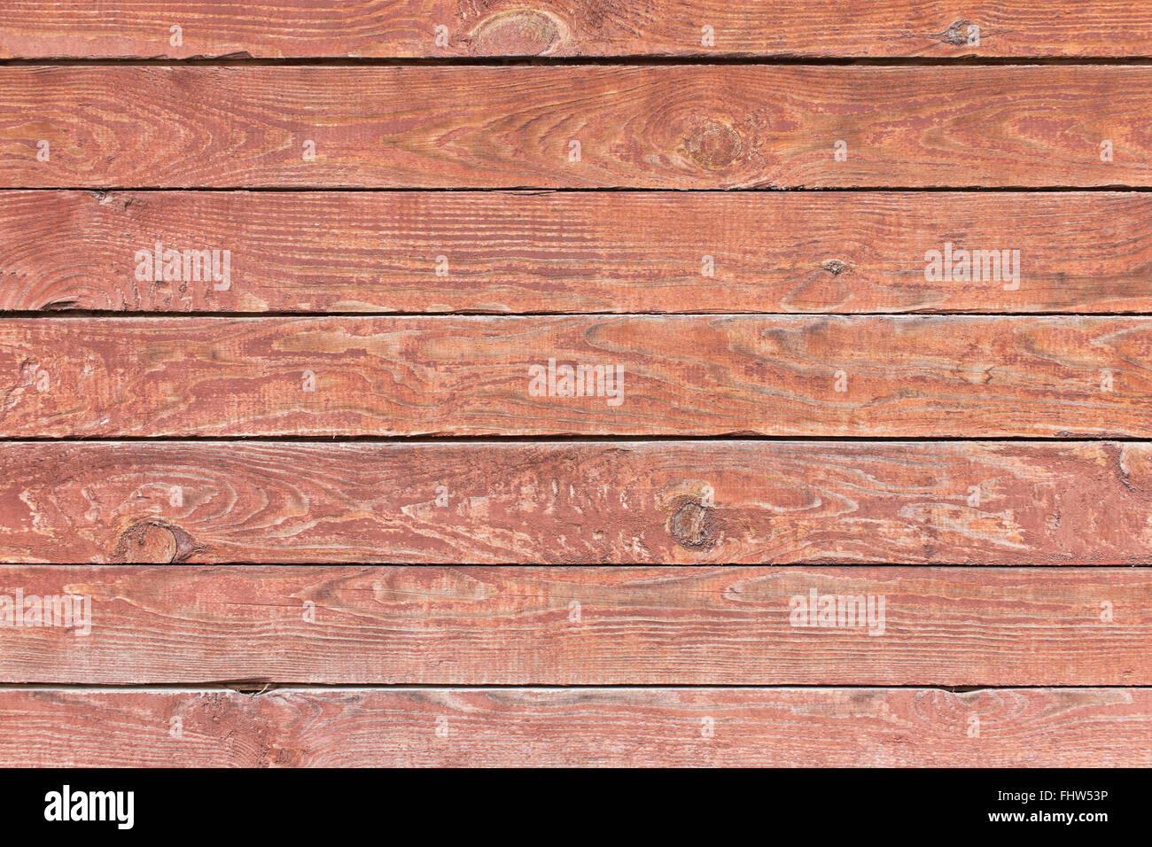 Old wooden painted planks board background - Stock Image