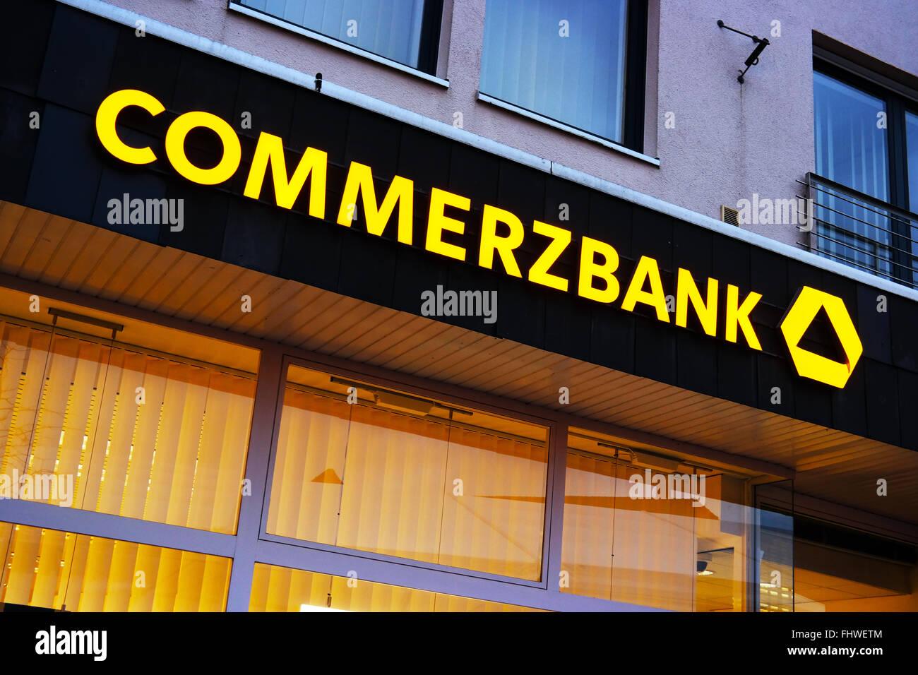 Commerzbank logo - Stock Image