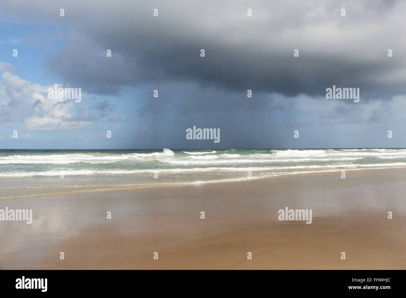 Precipitation of rain on the beach Itacarezinho - Stock Image