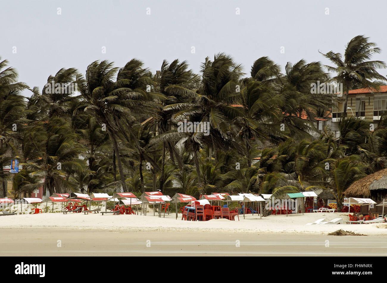 Pebble Beach of the city of Sao Luis - Stock Image