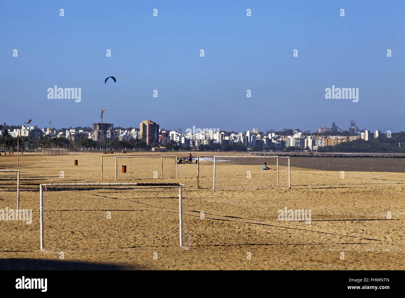 Sports facilities in Camberley Beach in the northern city of Vitoria - Stock Image