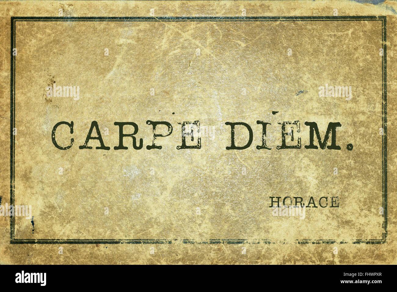 basic premises of carpe diem poetry