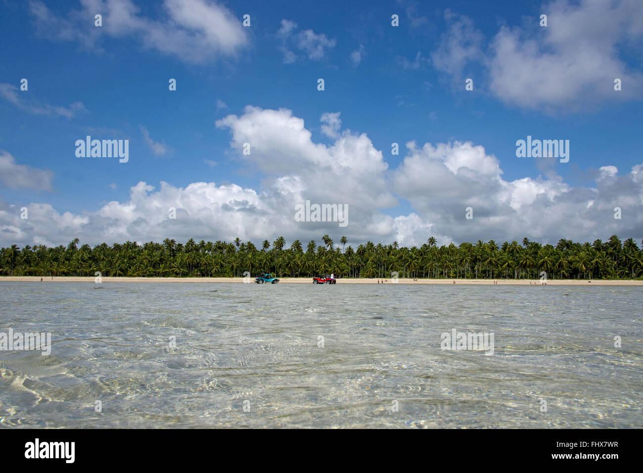 Buggies doing tourist beach getaway xareu - Stock Image