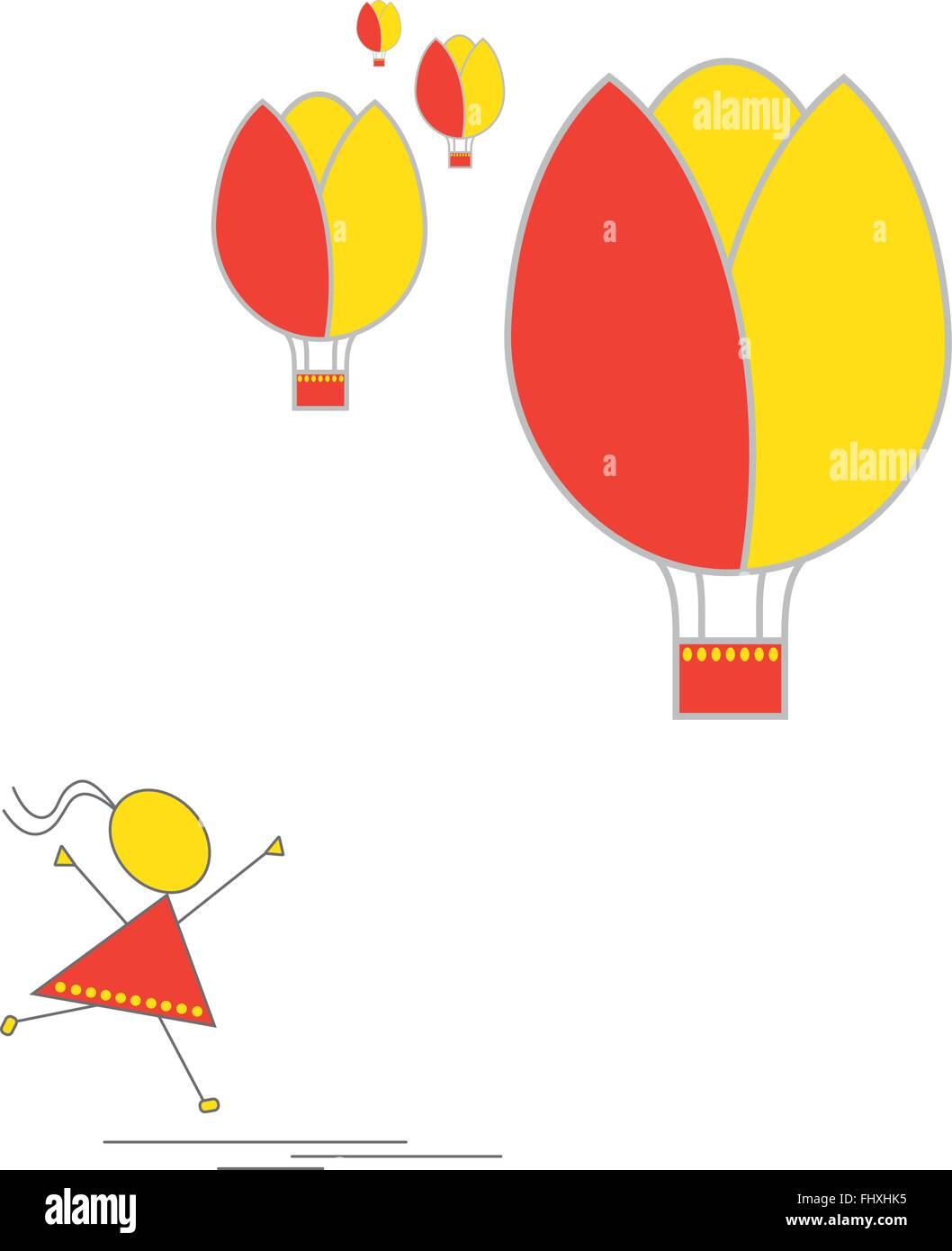 Flower Hot Air Balloon Stock Photos & Flower Hot Air Balloon Stock ...