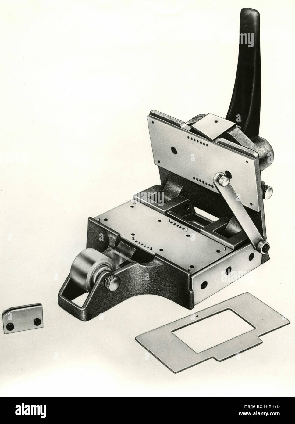 Analog negative photographic equipment for movies, Italy - Stock Image