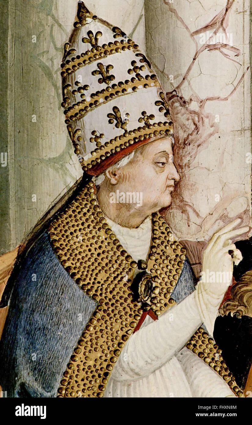 Pope Pius II - Stock Image