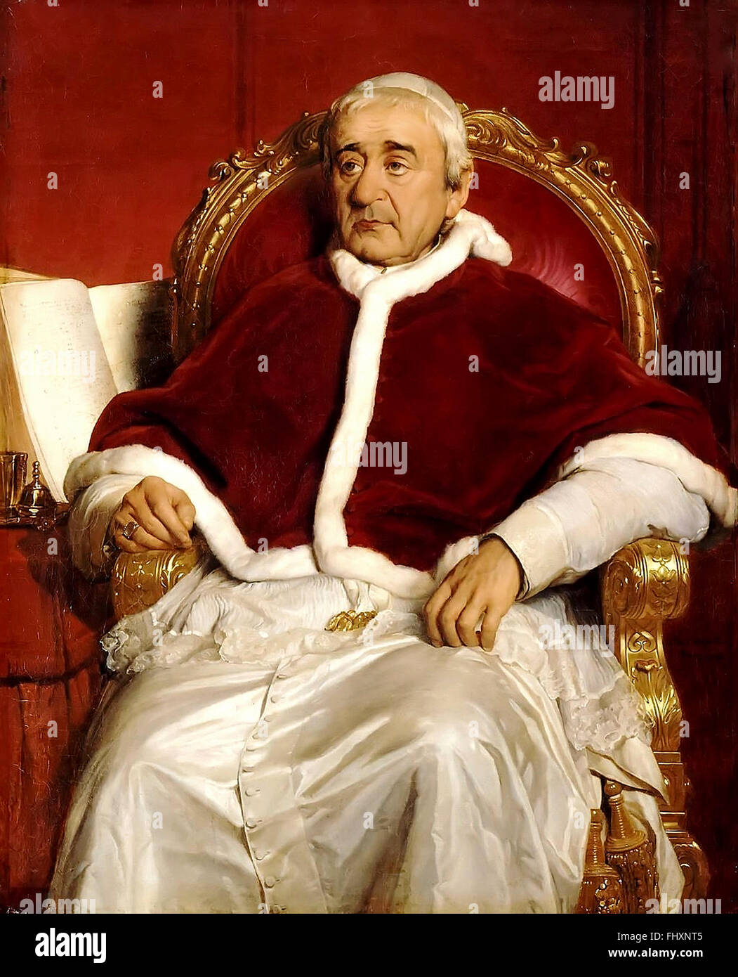 Pope Gregory XVI   Strongly conservative and traditionalist, he opposed democratic and modernising reforms in the - Stock Image