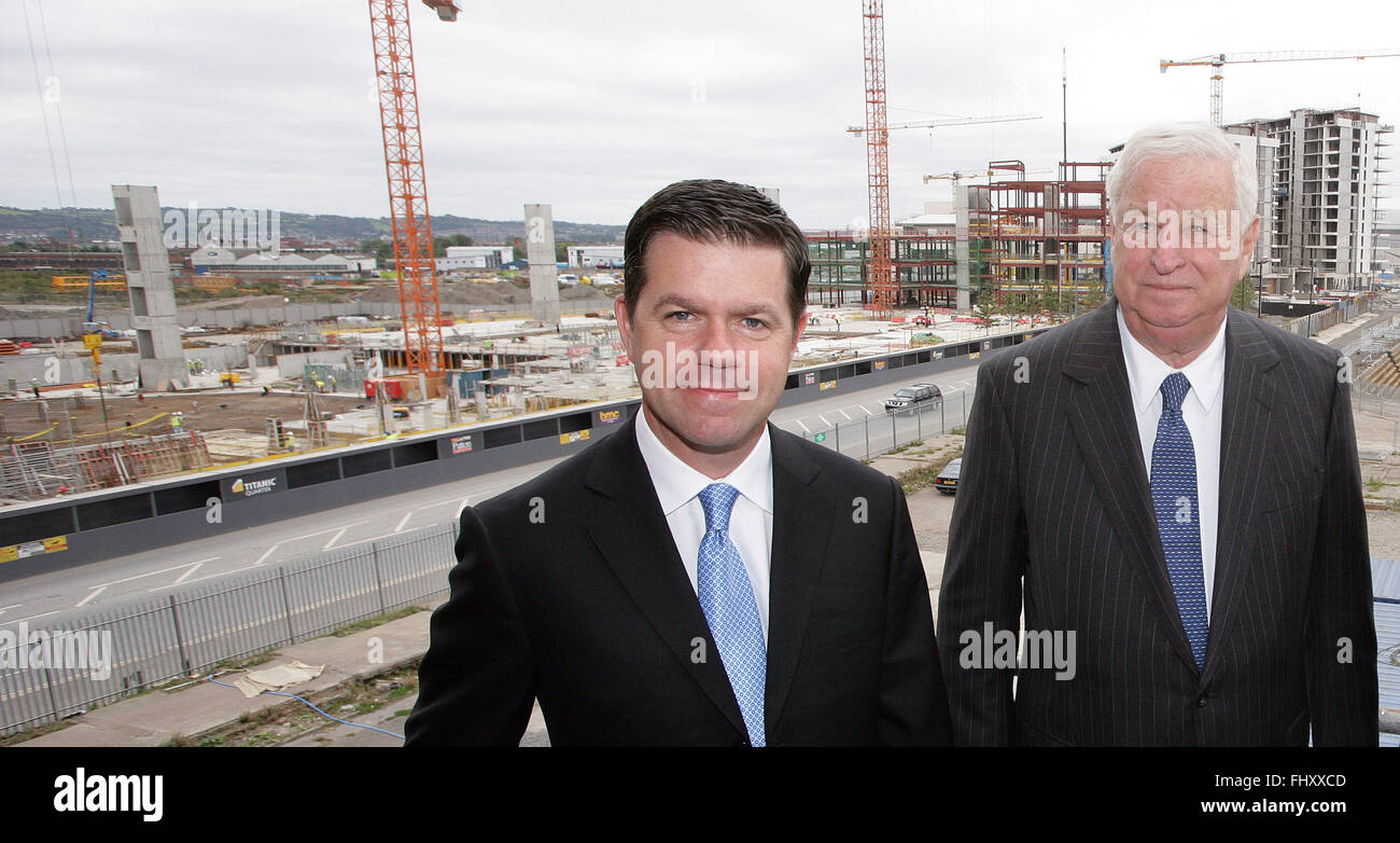 Declan Kelly (left) who has just been announced by Secretary of State Hilary Clinton as Economic Envoy to Northern - Stock Image