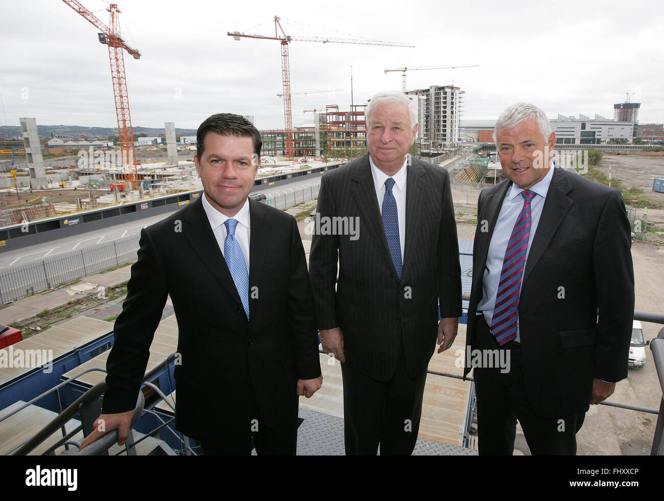 FILES - Declan Kelly (left) who has just been announced by Secretary of State Hilary Clinton as Economic Envoy to Stock Photo