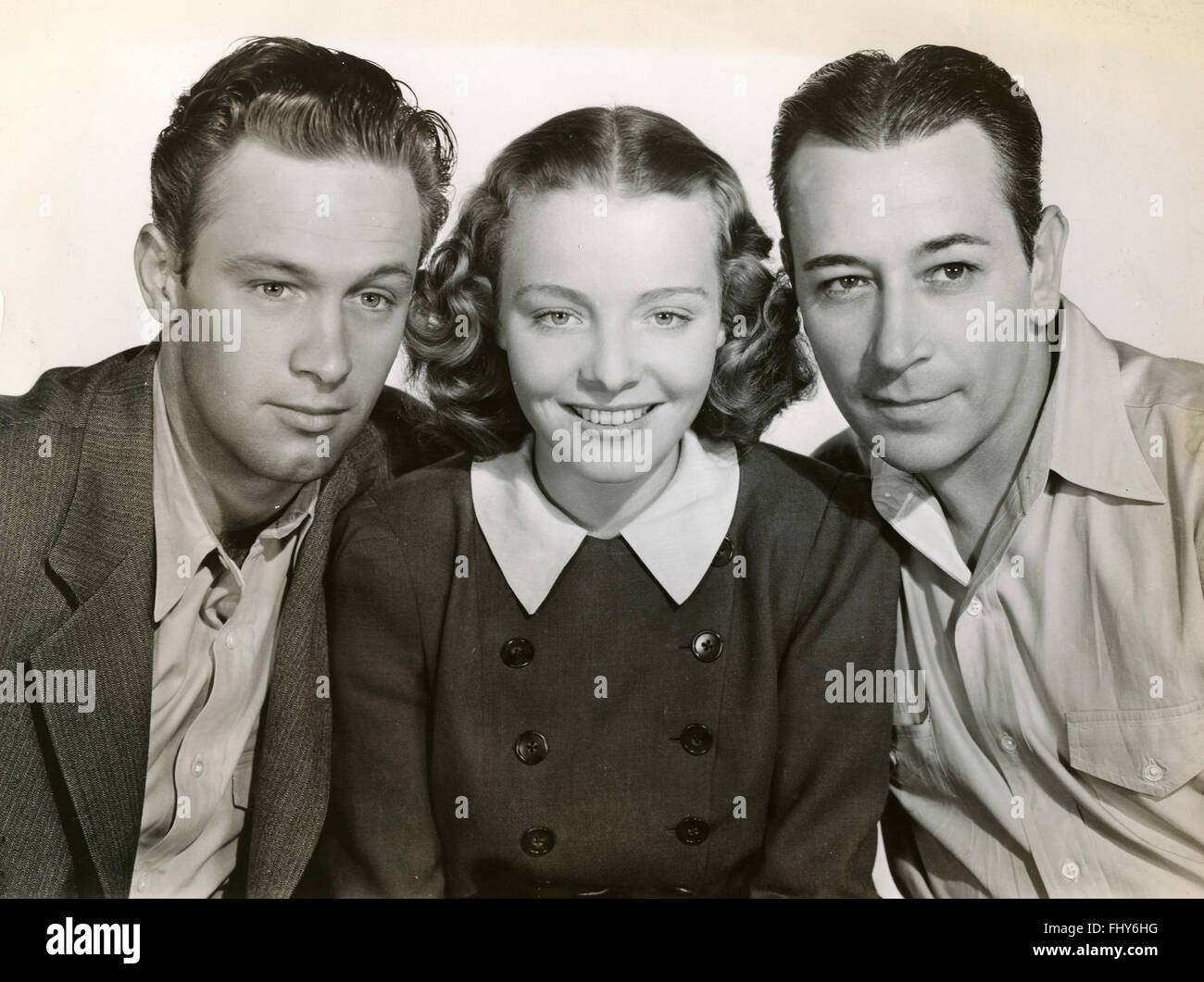 Actors of the film Invisible Stripes, USA 1939 - Stock Image