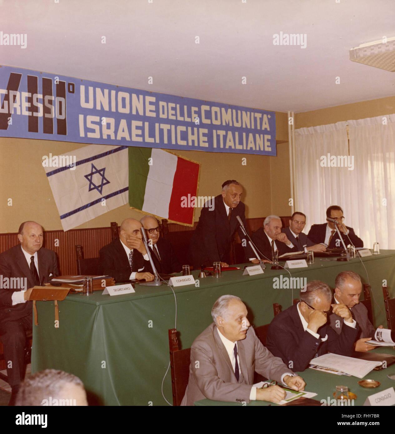 VIII Congress of Jewish Communities, Rome, Italy, 1970 - Stock Image