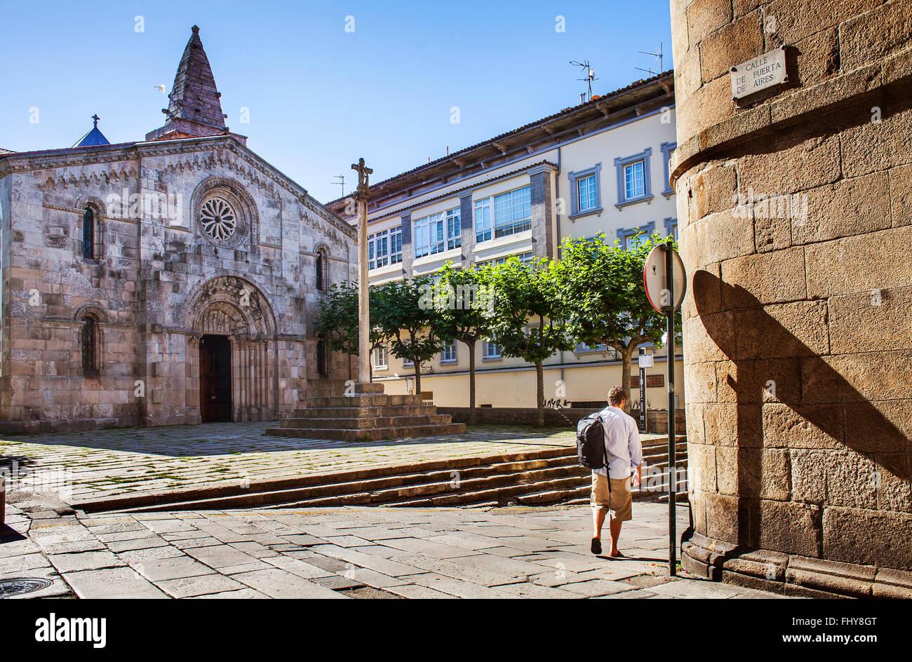 Colegiata De Santa Maria Del Campo Coruña City Galicia Spain Stock Photo Alamy