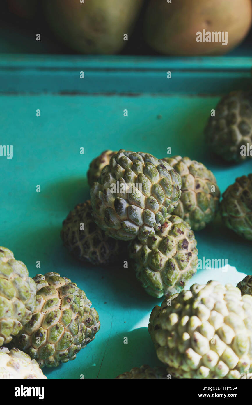 Anon fruit also called sugar apple. - Stock Image
