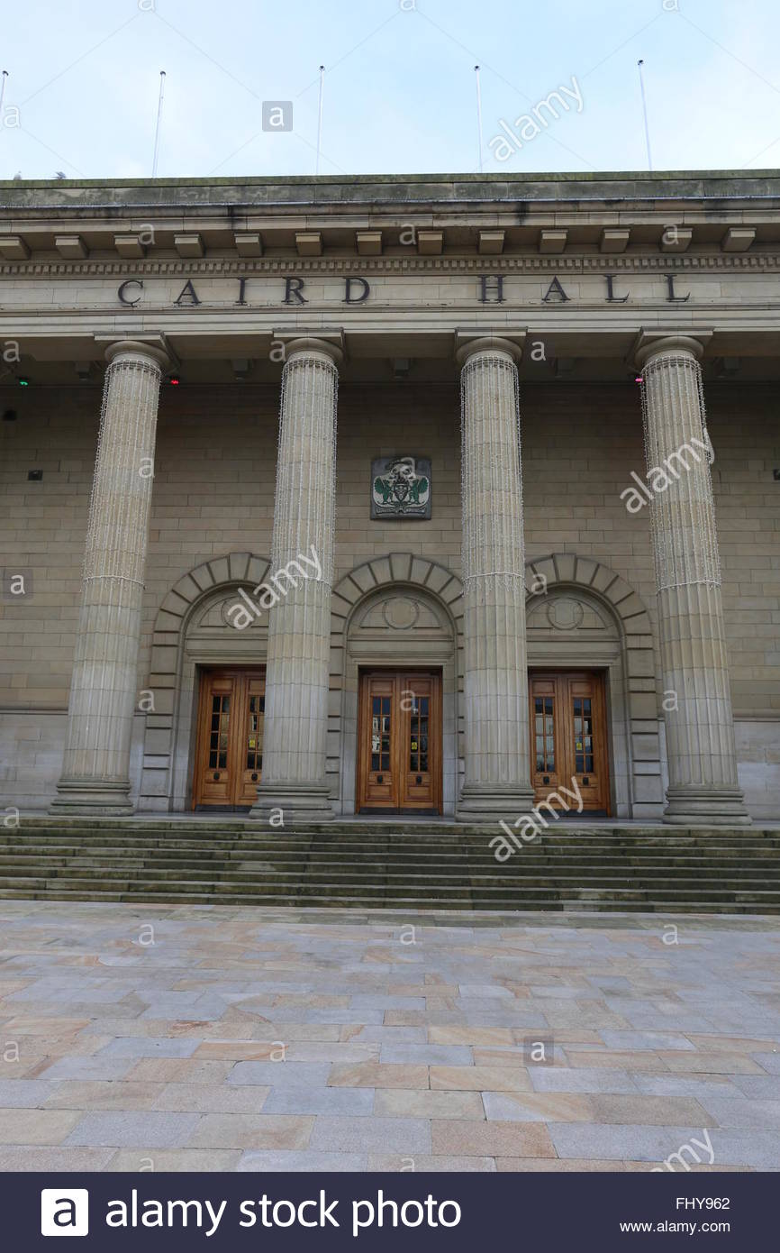 Entrance to Caird Hall Dundee Scotland  December 2015 - Stock Image