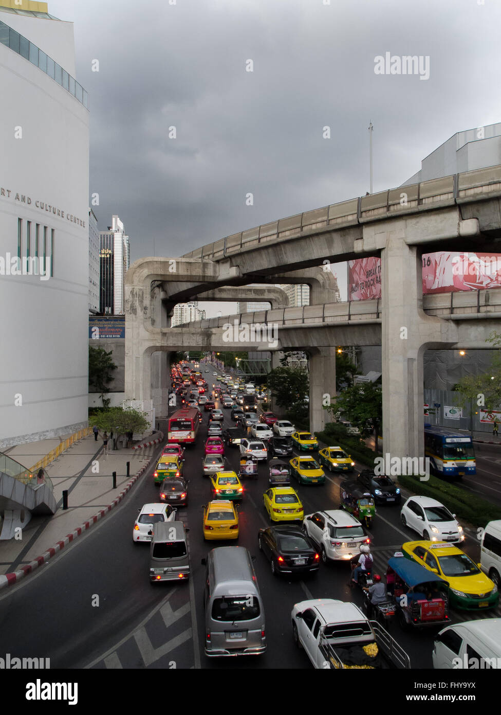 Rush hour traffic bangkok thailand - Stock Image