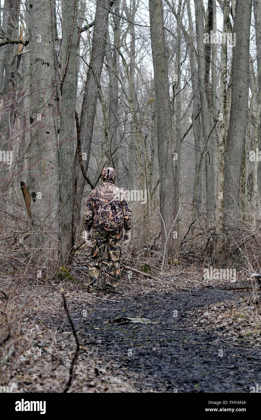 camouflage clothing used by hunters - Stock Image
