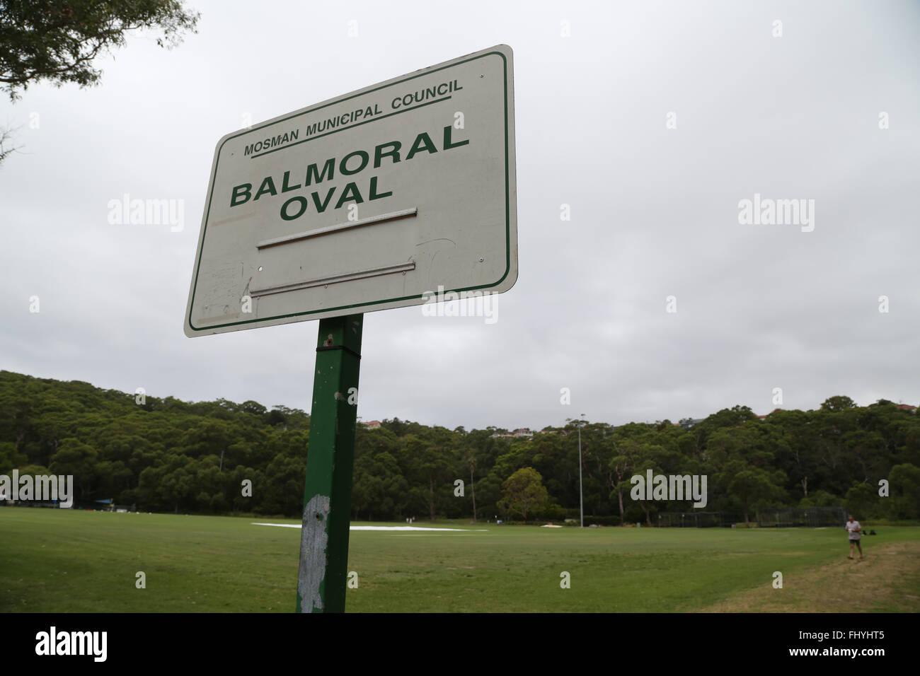 Balmoral Oval in Mosman, Sydney, Australia. - Stock Image