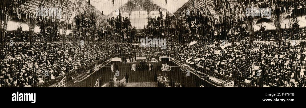 International Horse Show at Olympia, London, UK 1909 - Stock Image