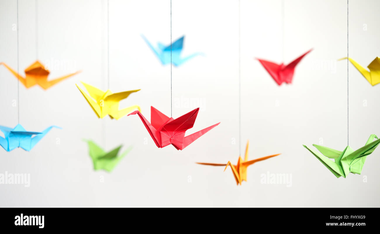 Close Up Of Origami Birds