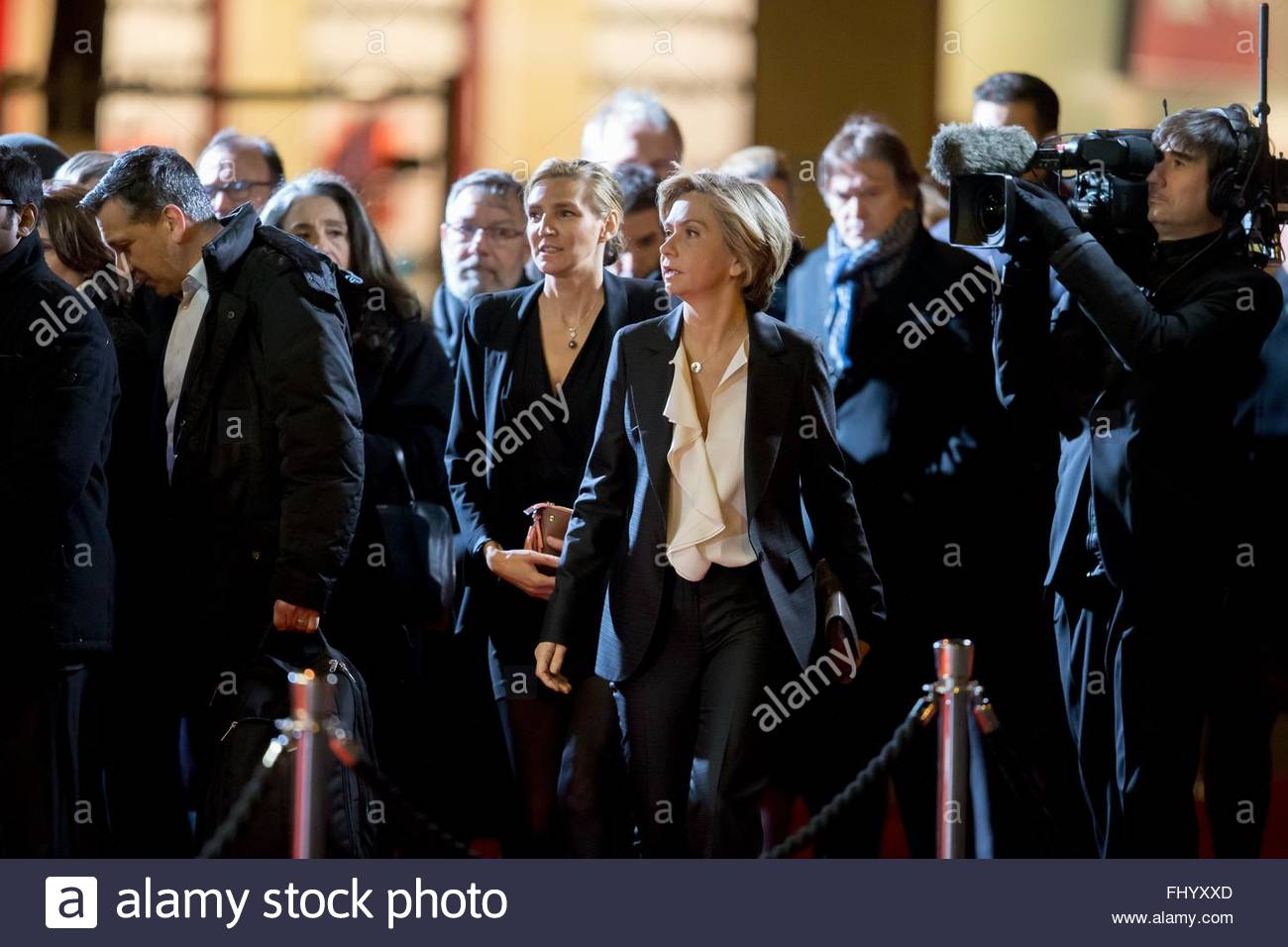 Paris, France. February 26th, 2016. FRANCE, Paris: French President of the Regional Council of Ile-de-France Valerie - Stock Image