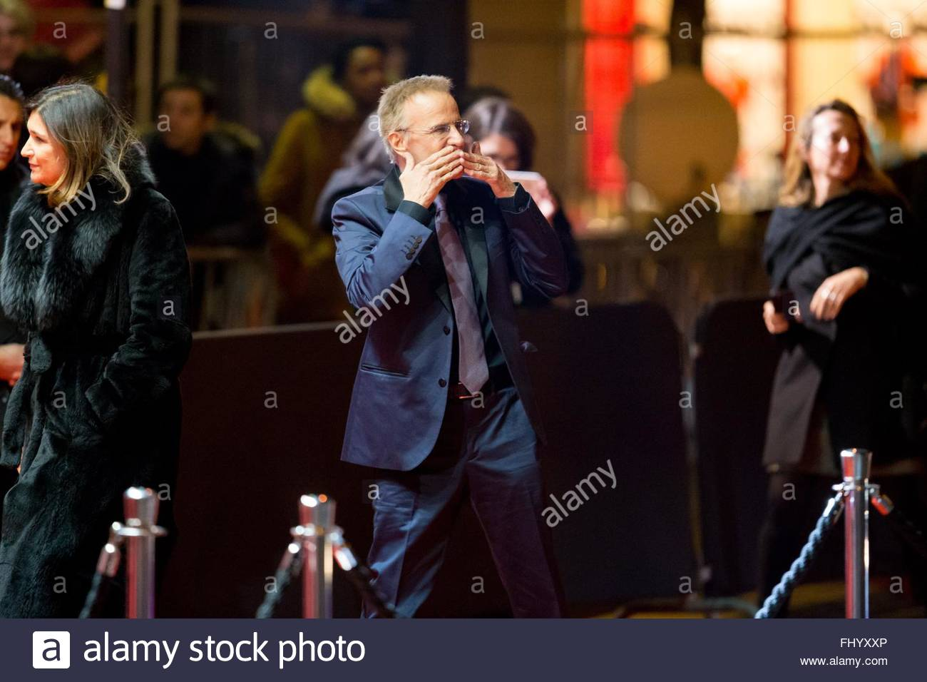 Paris, France. February 26th, 2016. FRANCE, Paris: French actor Christophe Lambert walks on the red carpet of the - Stock Image
