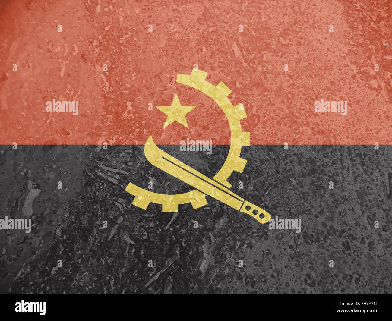 Flag of Angola, background, texture - Stock Image