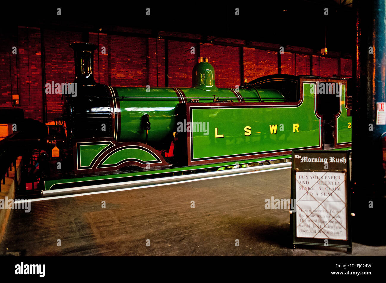 London and South Western Railway Class M7 Locomotive, National Railway Museum, York - Stock Image
