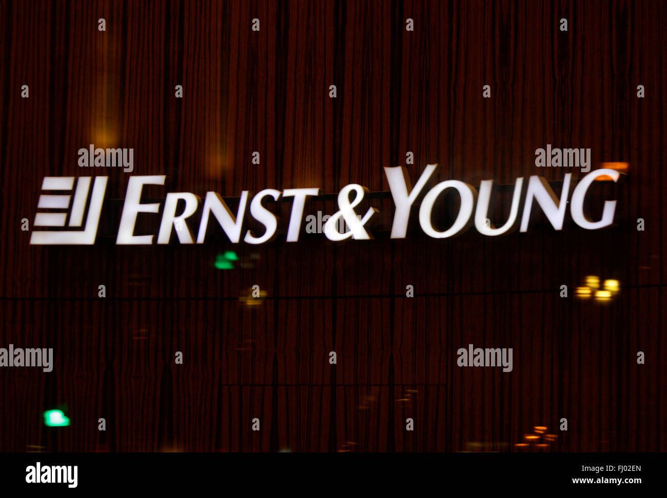Markenname: 'Ernst and Young', Berlin. - Stock Image