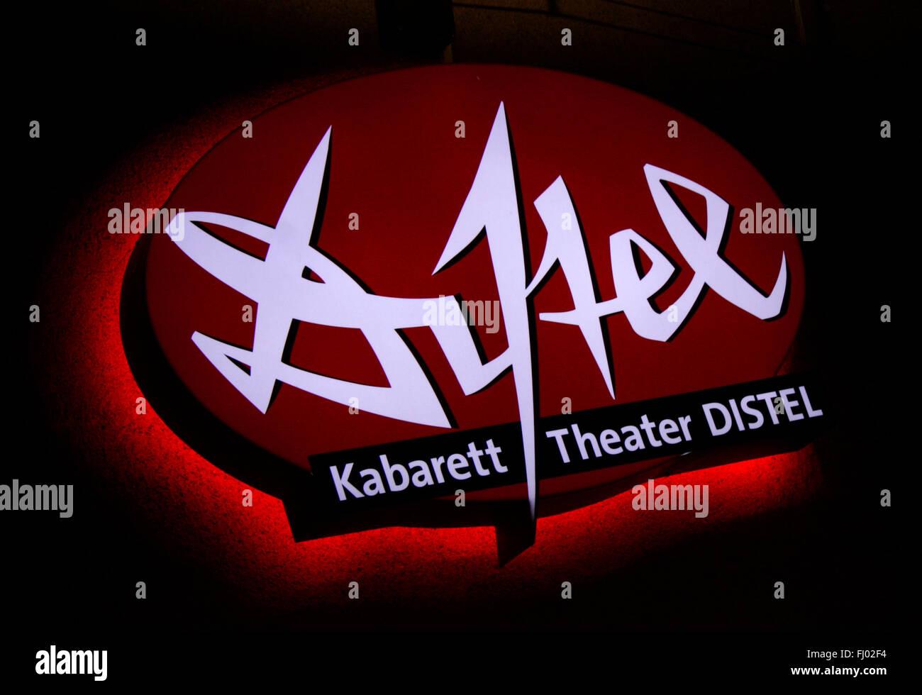'Distel Kabarett Theater', Berlin. - Stock Image