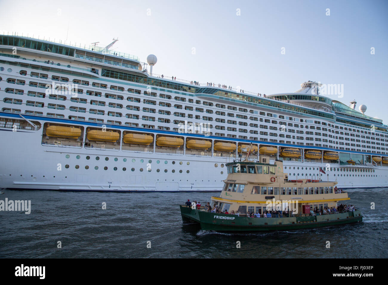 The Royal Caribbean International cruise ship Voyager of the Seas
