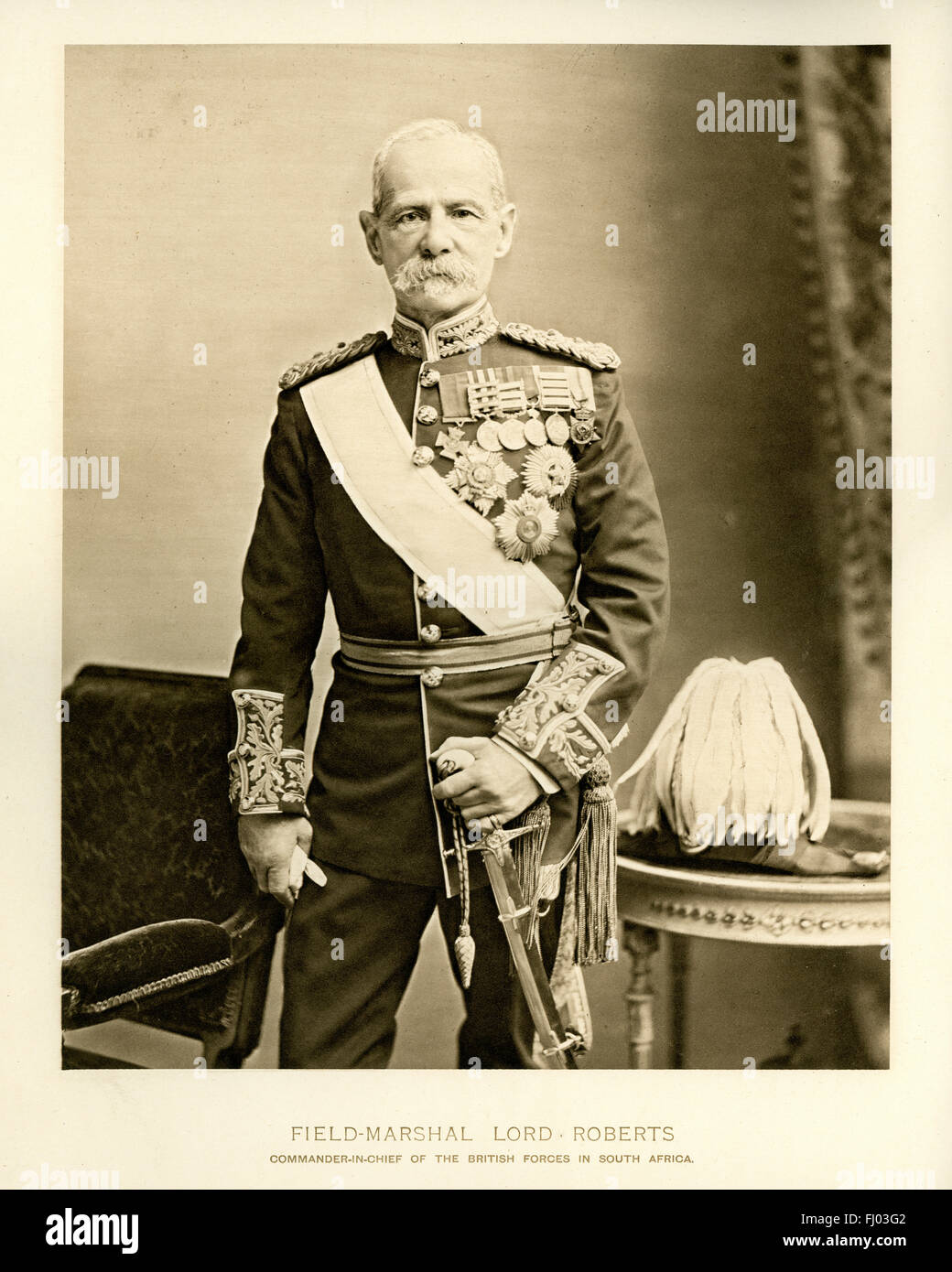 Field Marshal Frederick Sleigh Roberts, was a British soldier who was one of the most successful commanders of the - Stock Image
