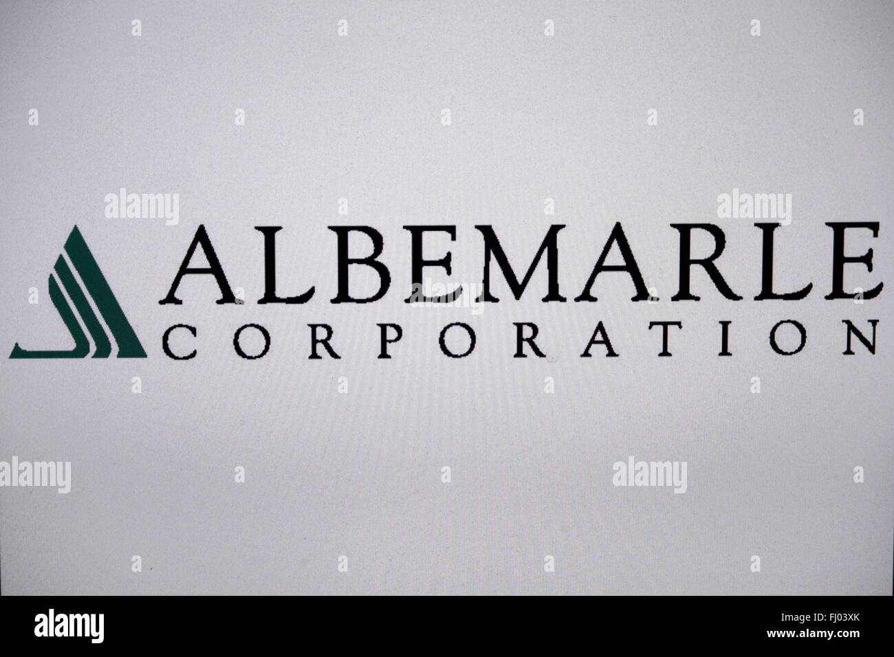Markenname: 'Albemarle Corporation', Berlin. - Stock Image