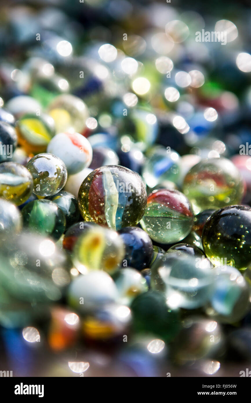 A Lot of colorful marbles - Stock Image