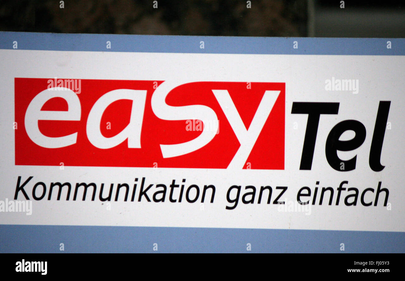 Markenname: 'Easy Tel', Berlin. - Stock Image