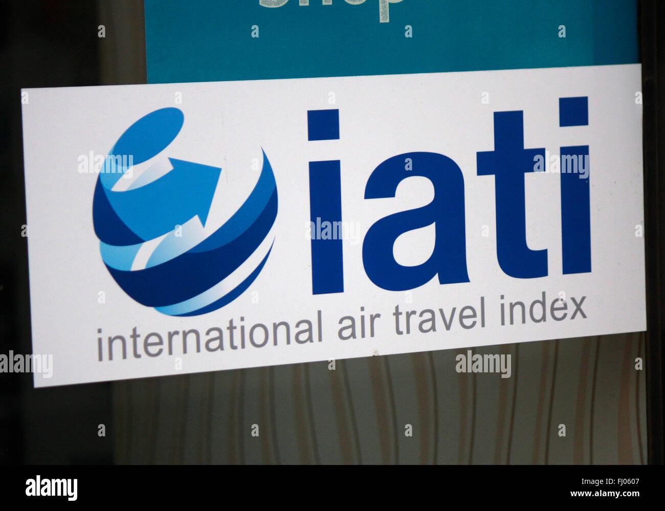 Markenname: 'Iati International Air Travel', Berlin. - Stock Image