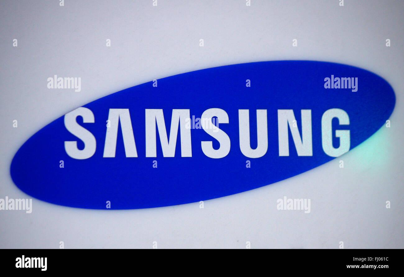 Markenname: 'Samsung', Berlin. - Stock Image