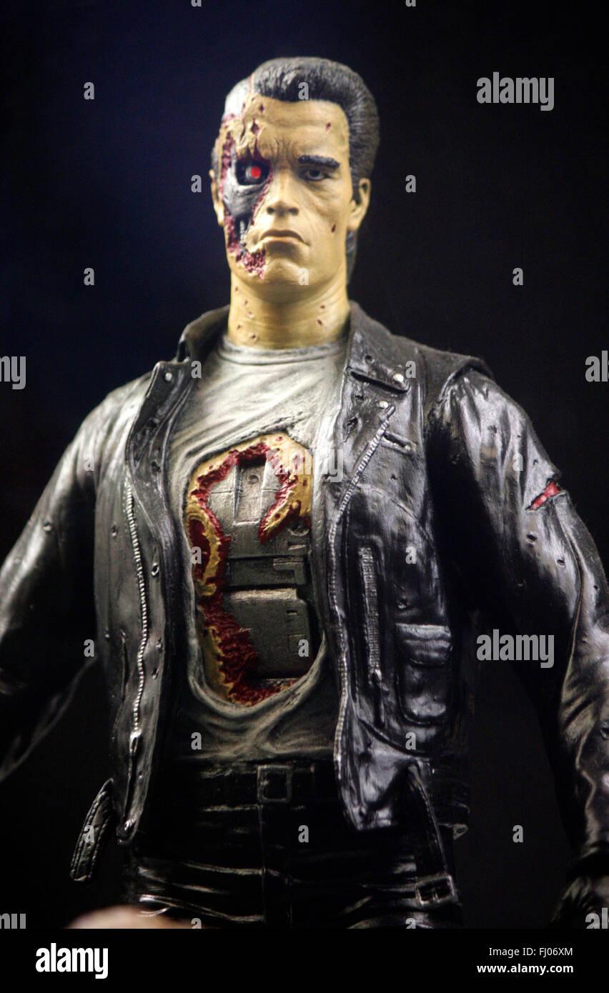 Figur des Terminator aus dem gleichnamigen Spielfilm (gespielt von Arnold Schwarzenegger), Berlin . - Stock Image