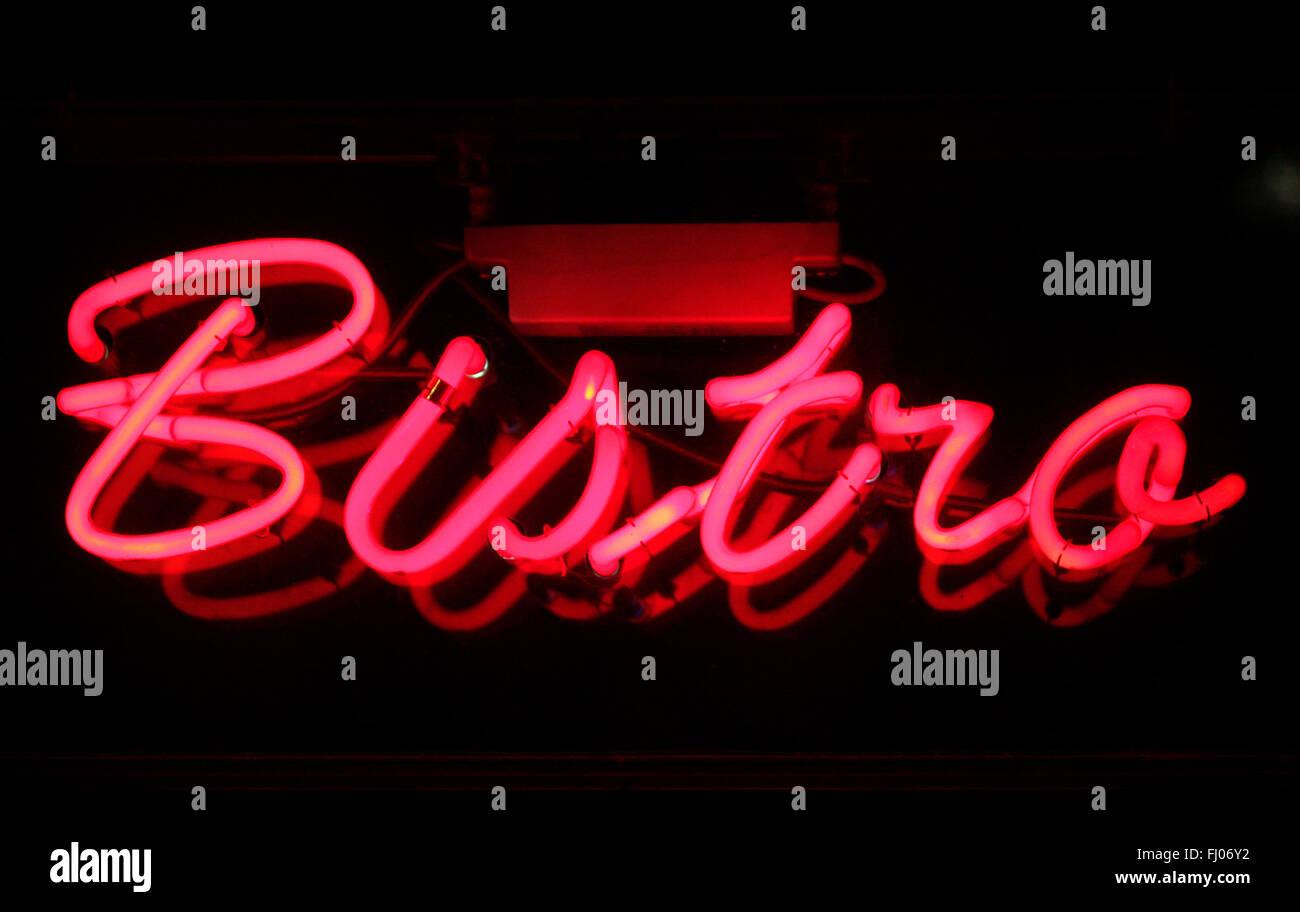 Markenname: 'Bistro', Berlin. - Stock Image