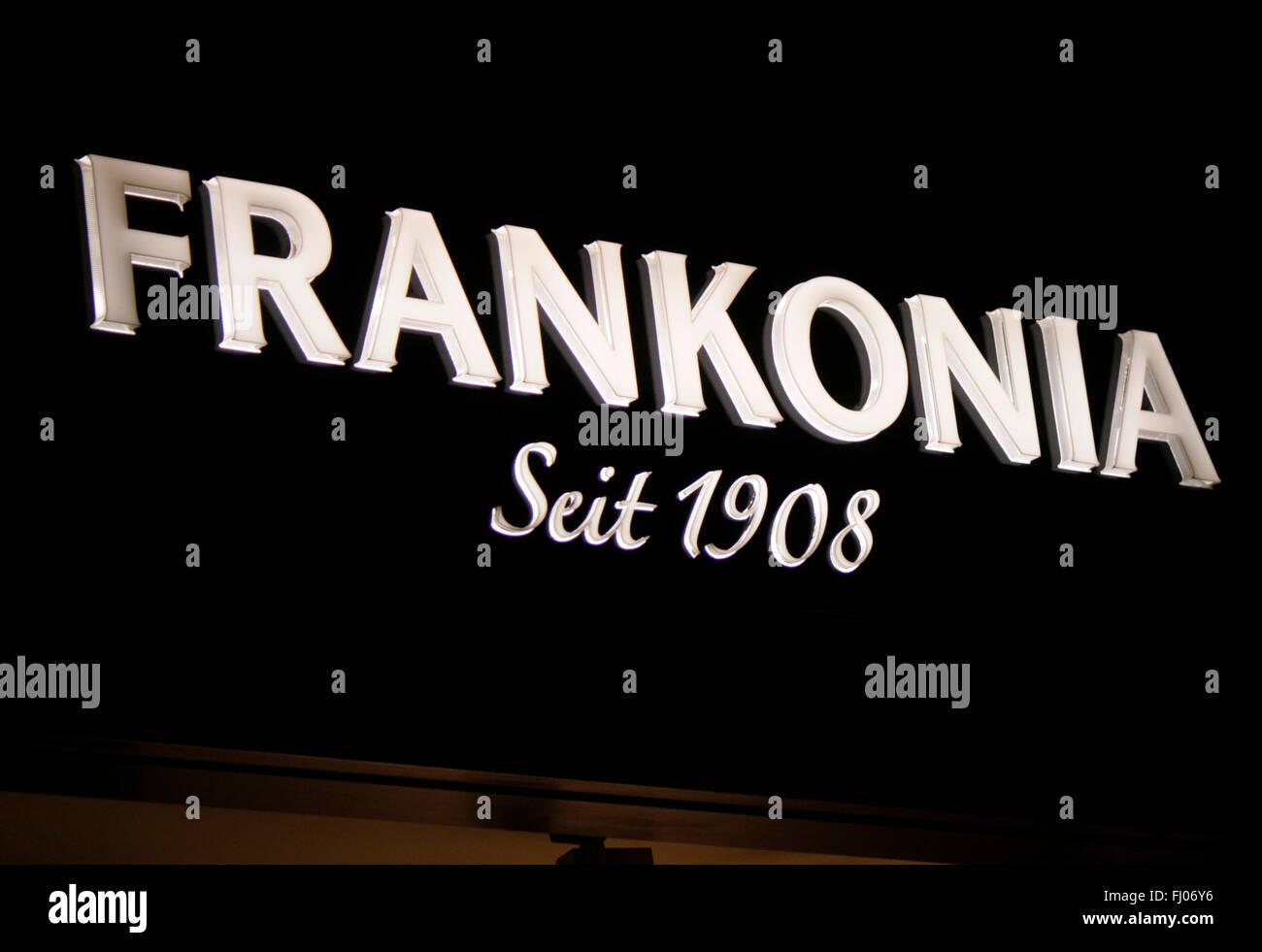 Markenname: 'Frankonia', Berlin. - Stock Image