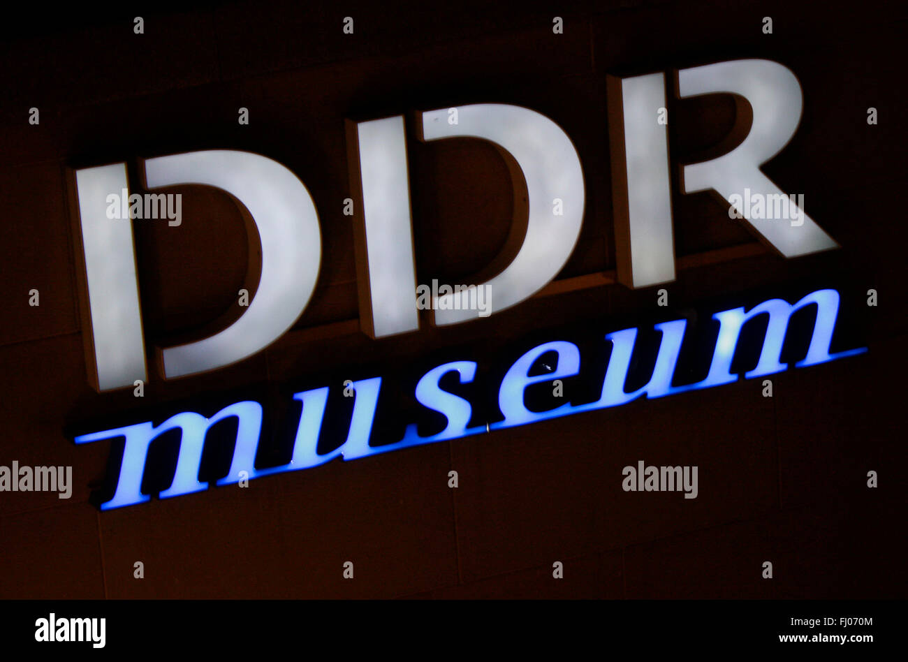 "Markenname: ""DDR Museum"", Berlin. Stock Photo"